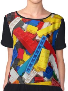 Lots of LEGO Blocks / Bricks Chiffon Top