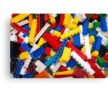 Lots of LEGO Blocks / Bricks Canvas Print