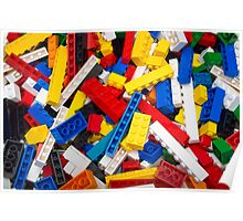 Lots of LEGO Blocks / Bricks Poster
