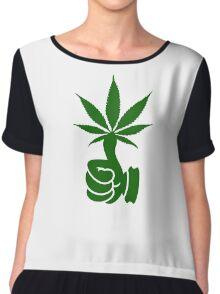Green Thumb (Weed) VRS2 Chiffon Top