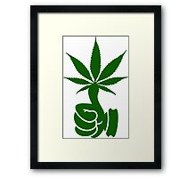 Green Thumb (Weed) VRS2 Framed Print