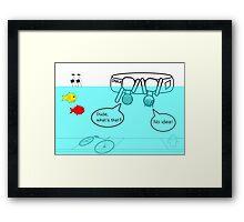 Inner tube kids Framed Print