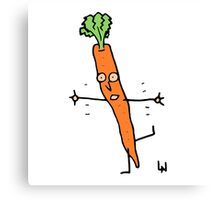 Happy Carrot Canvas Print