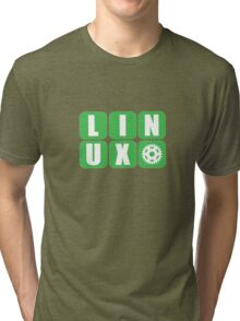 Linux Grid Design Gear I Tri-blend T-Shirt