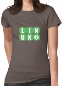 Linux Grid Design Gear I Womens Fitted T-Shirt