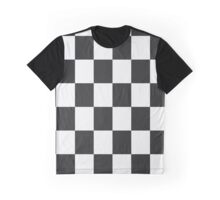 black and white grid pattern Graphic T-Shirt