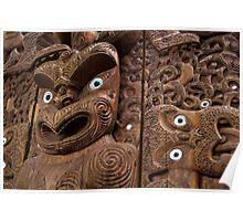 Maori Carving Poster