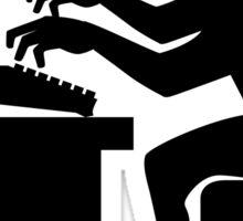 Monkey Pounding the Keyboard Sticker
