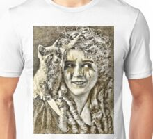 Mary Pickford and Kitten (The Nose Pearlers) Unisex T-Shirt