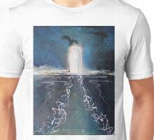 Seabird on piling in oils Unisex T-Shirt