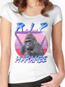 Harambe Vintage T-Shirt Women's Fitted Scoop T-Shirt