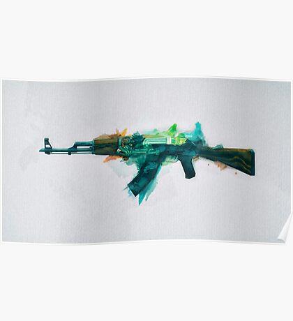 CS:GO AK-47 Fire Serpent Poster
