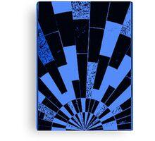 Black and Blues, bricks pattern Canvas Print