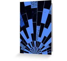 Black and Blues, bricks pattern Greeting Card