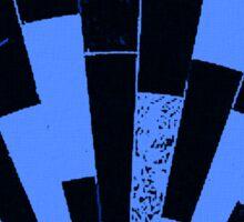 Black and Blues, bricks pattern Sticker