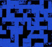 Line Art - The Bricks, tetris style, dark blue and black Sticker
