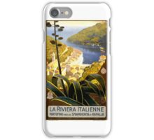 1920 Italian Riviera Travel Poster iPhone Case/Skin