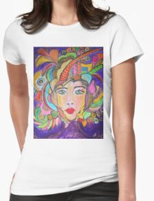 Colorful Warrior Womens Fitted T-Shirt