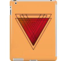 Red Orange Black - Triangle iPad Case/Skin