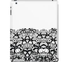 black and white blossoms barely contained iPad Case/Skin