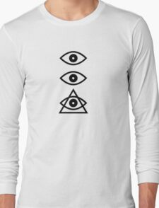 All Seeing Eyes Triangle Long Sleeve T-Shirt