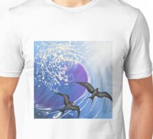 Seabirds and wave in oils Unisex T-Shirt