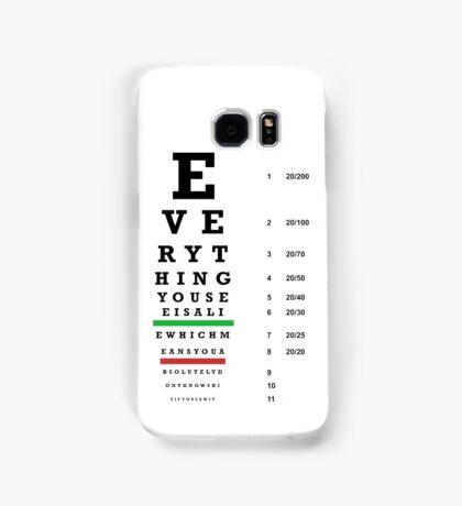 lie chart Samsung Galaxy Case/Skin