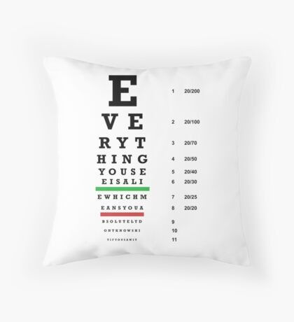 lie chart Throw Pillow