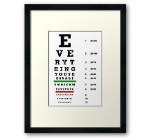 lie chart Framed Print