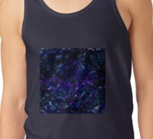 The Dark Forest - Purple Blue Abstract Drawing Tank Top