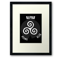 Alpha Beta Omega Framed Print