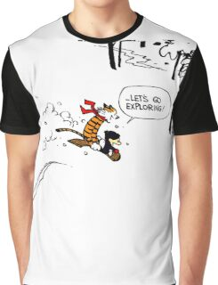 Calvin and Hobbes - Let's Go Exploring Graphic T-Shirt