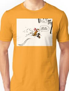 Calvin and Hobbes - Let's Go Exploring Unisex T-Shirt