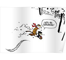 Calvin and Hobbes - Let's Go Exploring Poster