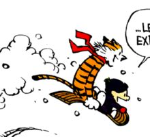 Calvin and Hobbes - Let's Go Exploring Sticker