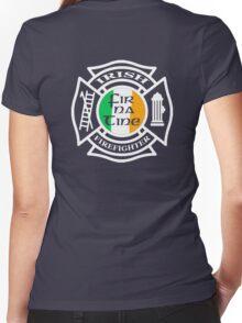 Irish Firefighter Women's Fitted V-Neck T-Shirt
