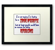 Republican Zombies Framed Print