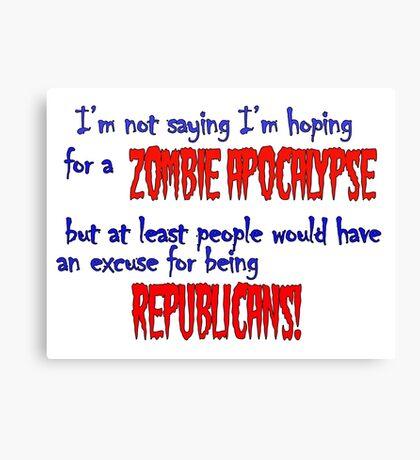 Republican Zombies Canvas Print