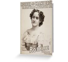 Performing Arts Posters Roeber and Crane Bro's Vaudeville Athletic Co 0361 Greeting Card
