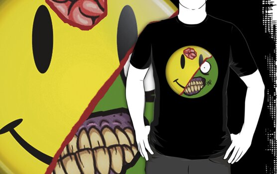 Zombie Happy Face by MrPeterRossiter