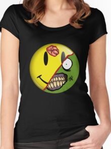 Zombie Happy Face Women's Fitted Scoop T-Shirt