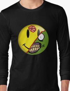 Zombie Happy Face Long Sleeve T-Shirt