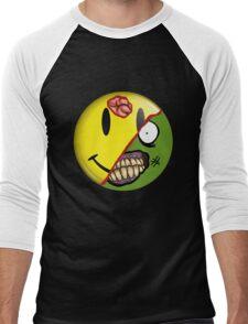Zombie Happy Face Men's Baseball ¾ T-Shirt