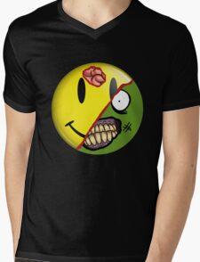 Zombie Happy Face Mens V-Neck T-Shirt