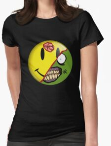 Zombie Happy Face Womens Fitted T-Shirt