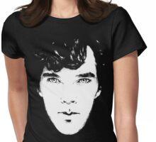 Sherlock B/W Womens Fitted T-Shirt