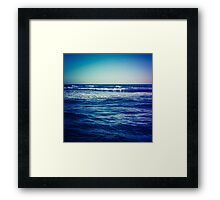 waves ver.blue Framed Print