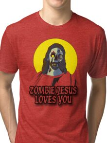 Zombie Jesus Loves You Tri-blend T-Shirt