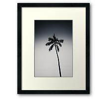 palm tree ver.black Framed Print