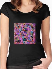 Galaxy Graffiti Women's Fitted Scoop T-Shirt